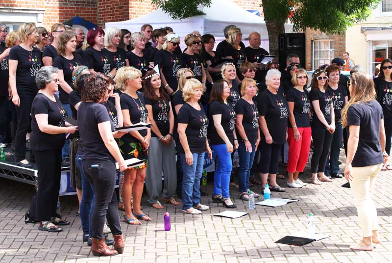 Just Sing Adult Choir  at Wimborne Minster Folk Festival