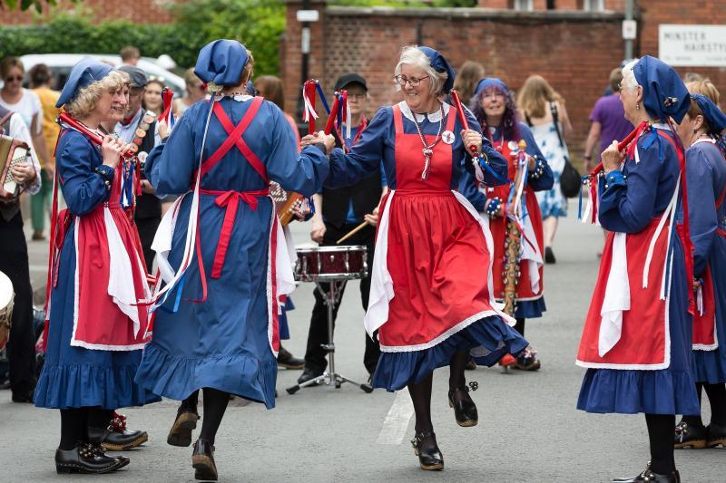 e791b31f137aa ... when people think of Morris dancing: men in white trousers and shirts,  with hankies and sticks. Because of its complex footwork, Cotswold is  probably ...